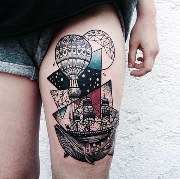 Cute and Meaningful Boat Tattoo Designs (47)