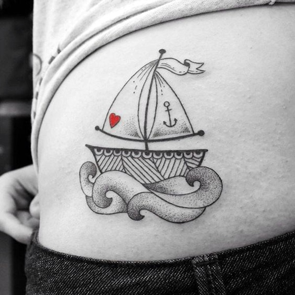 Cute and Meaningful Boat Tattoo Designs (49)