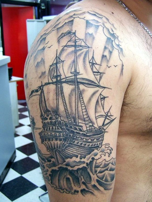 Cute and Meaningful Boat Tattoo Designs (8)