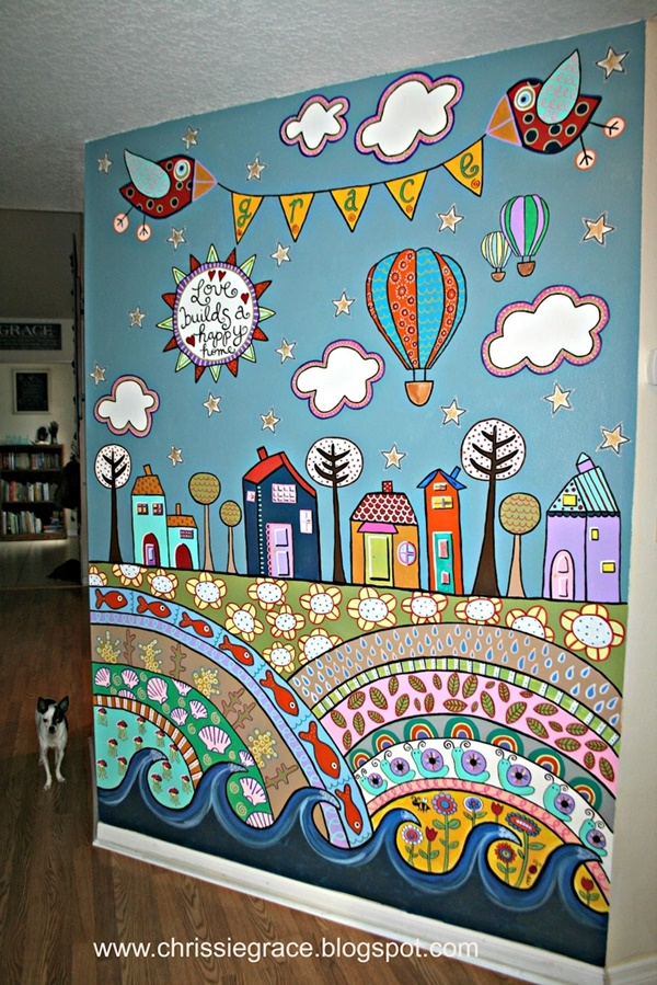 Elegant Wall Painting Ideas For Your Beloved Home (24)