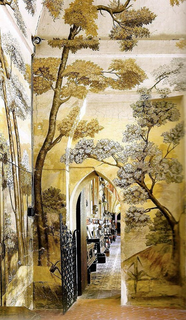 40 elegant wall painting ideas for your beloved home for Enchanted forest mural wallpaper