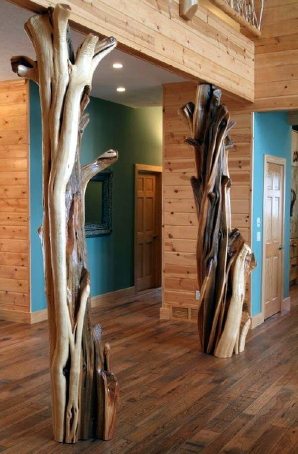 40 glorious pillar designs to give a grand look to your for Architectural wood columns