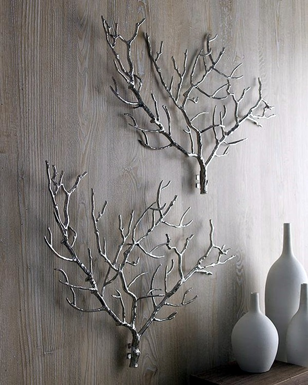40 inspirational tree branches decoration ideas bored art for Tree twigs decoration