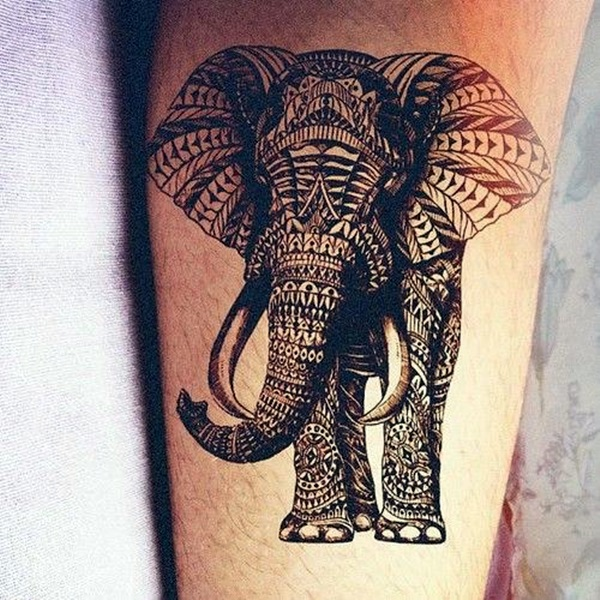 Lovely and Cute Elephant Tattoo Design (23)
