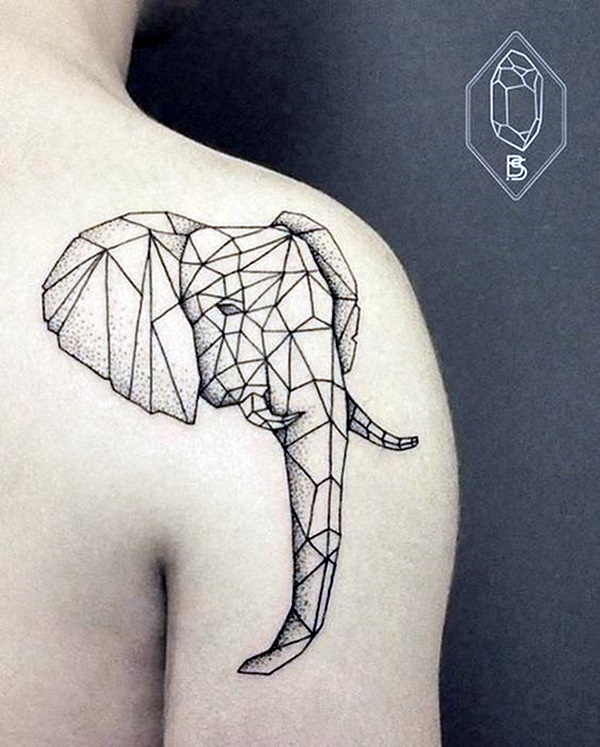 Lovely and Cute Elephant Tattoo Design (26)