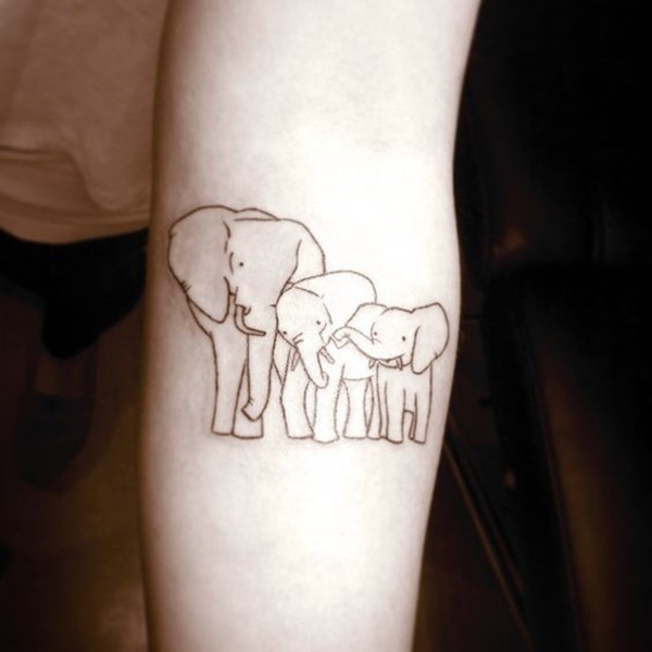 Lovely and Cute Elephant Tattoo Design (37)