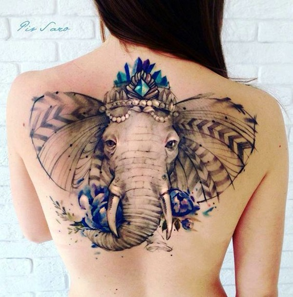 Lovely and Cute Elephant Tattoo Design (7)