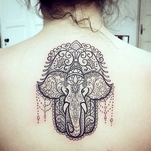 Lovely and Cute Elephant Tattoo Design (9)