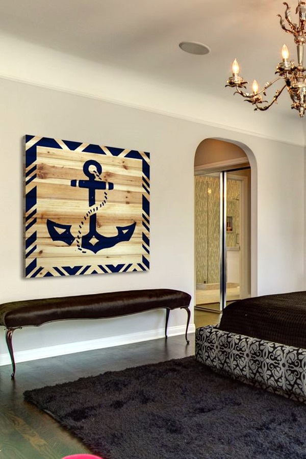 40 nautical decoration ideas for your home bored art for Anchor decoration