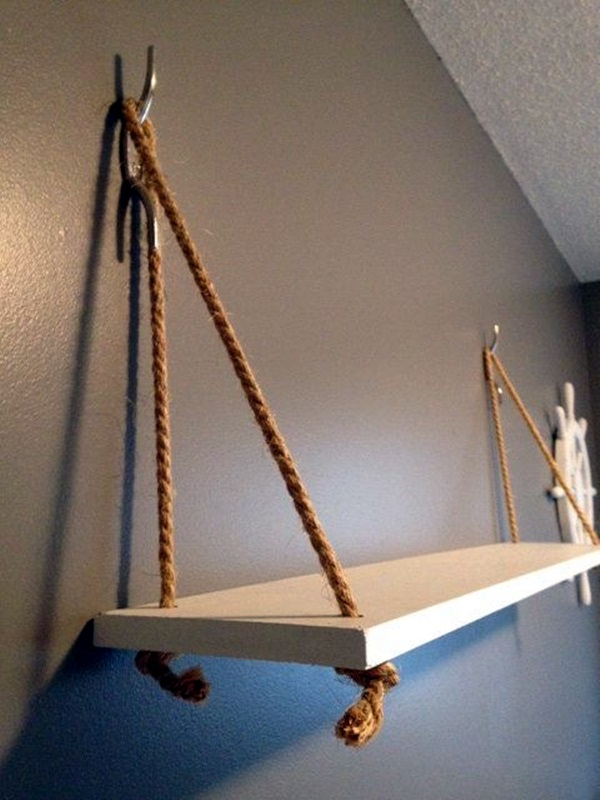 40 nautical decoration ideas for your home bored art - Nautical rope decorating ideas ...
