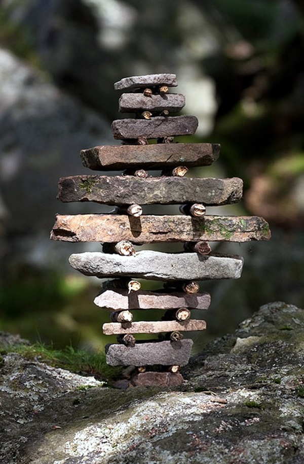 40 stunning land art installations bored art for Sticks and stones landscaping