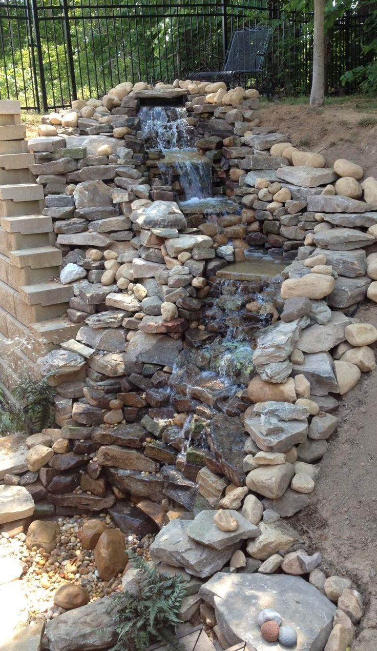 Beautiful Backyard Waterfalls That Will Beckon You To Look ... on Small Backyard Pond With Waterfall id=30270