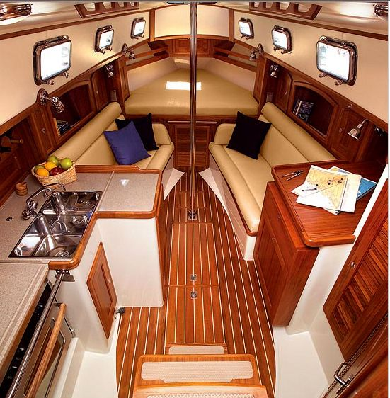 Beautiful and comfortable boat interior designs to make for Interior boat designs