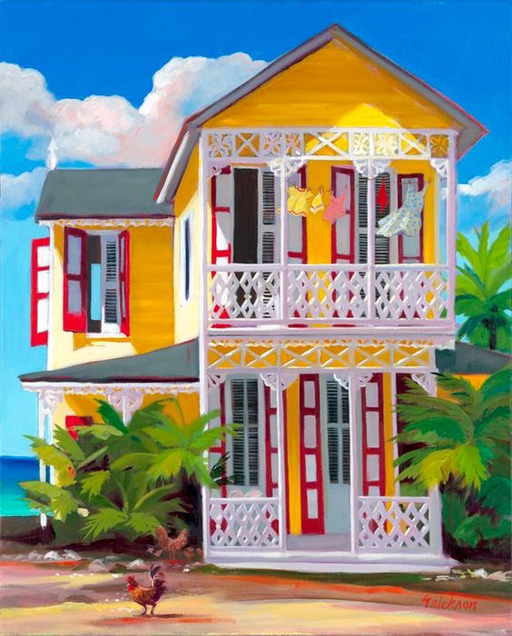 Beach Color Palette For House: Colorful And Cheerful Caribbean Art To Cheer You Up