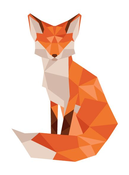Simple Fox Face Drawing