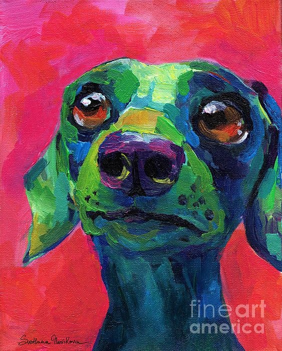 Look at the play of colors in fauvism art and make it your for Dog painting artist