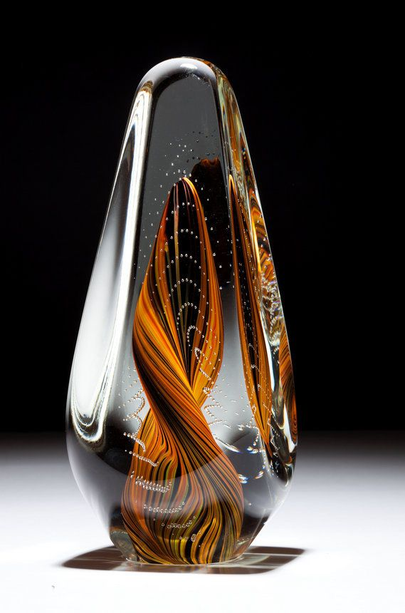 Gleaming and glowing but delicate glass sculptures bored art