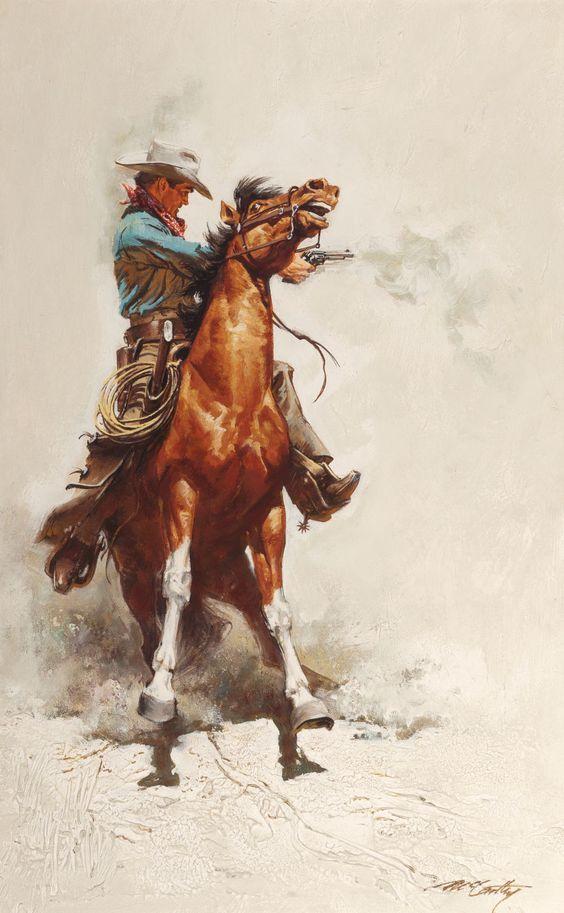 Texas Cowboy Art Paintings