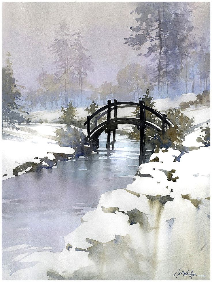 Winter Landscape Painting 23