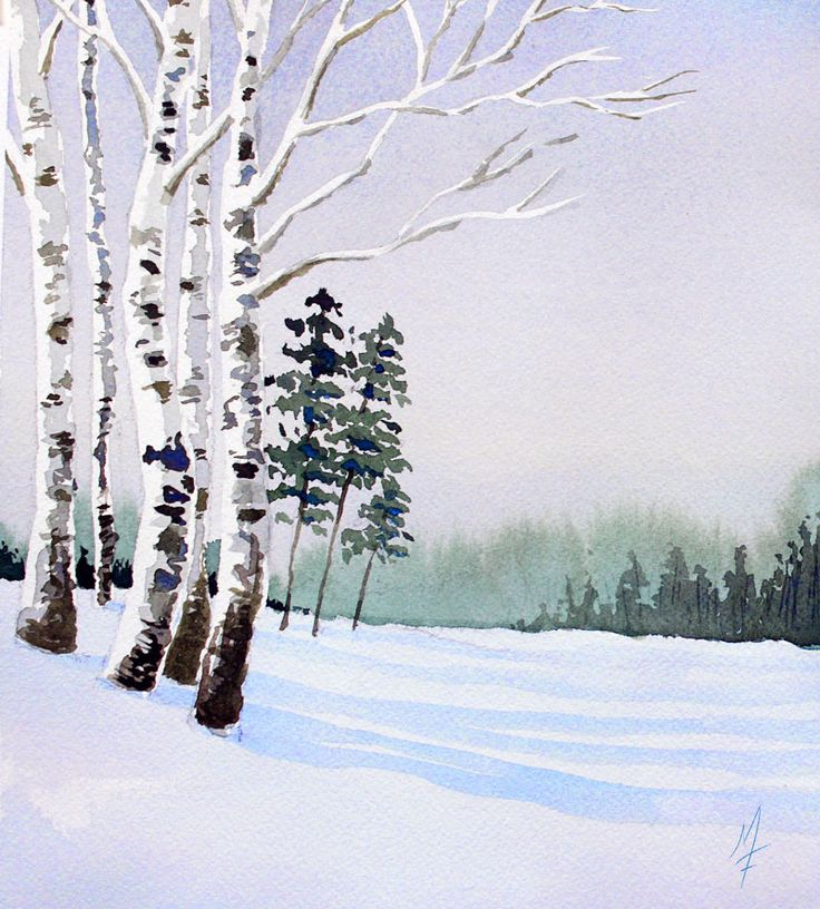 Winter Landscape Painting 6