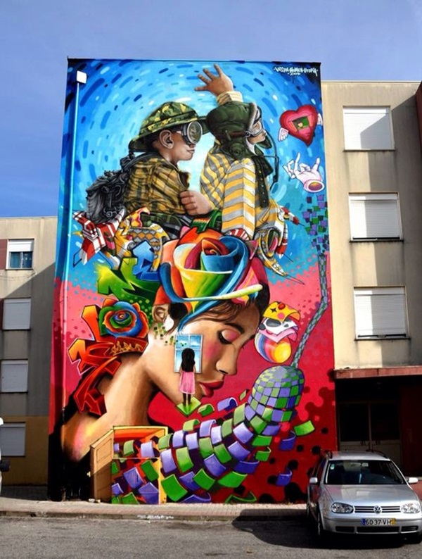 Amazing Huge Street Art on Building Walls (13)