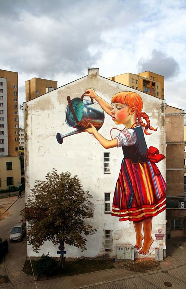 Amazing Huge Street Art on Building Walls (20)