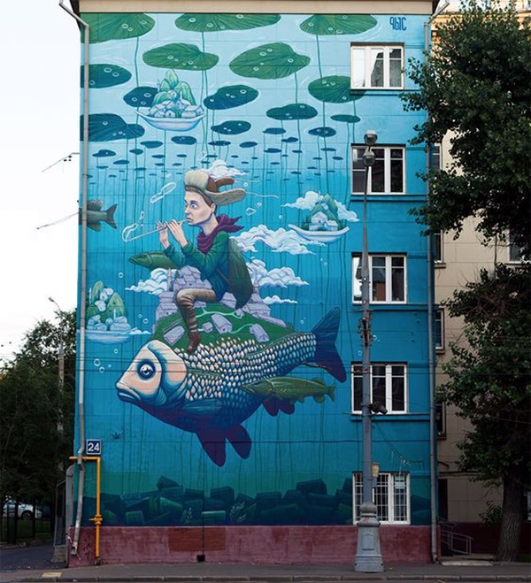 Amazing Huge Street Art on Building Walls (23)