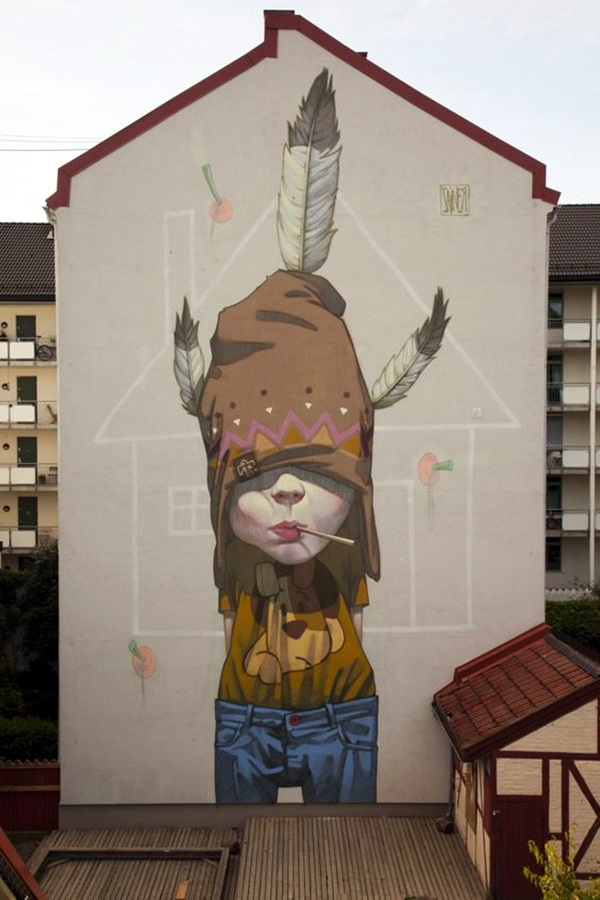 Amazing Huge Street Art on Building Walls (29)