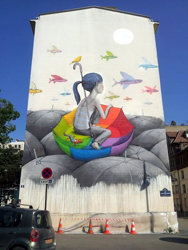 Amazing Huge Street Art on Building Walls (8)
