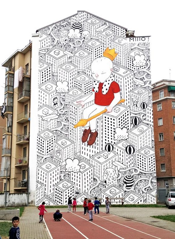 Amazing Huge Street Art on Building Walls (9)