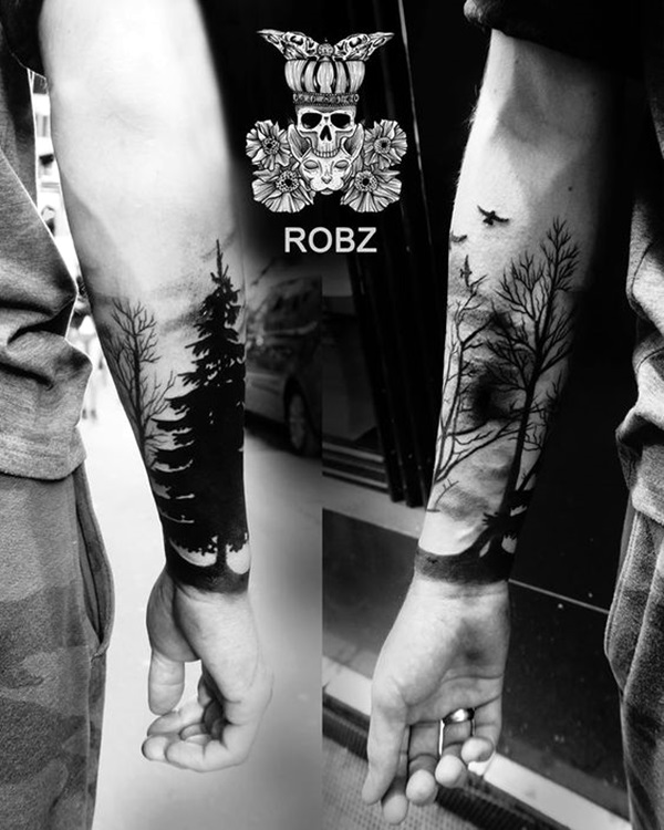 Deep and Super Cool Forest Tattoo Ideas (11)