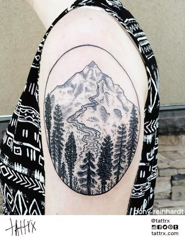 Deep and Super Cool Forest Tattoo Ideas (21)