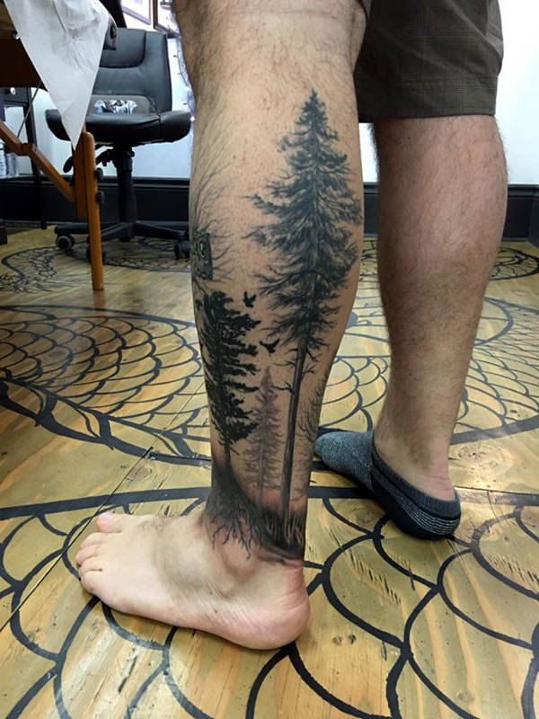 Deep and Super Cool Forest Tattoo Ideas (40)