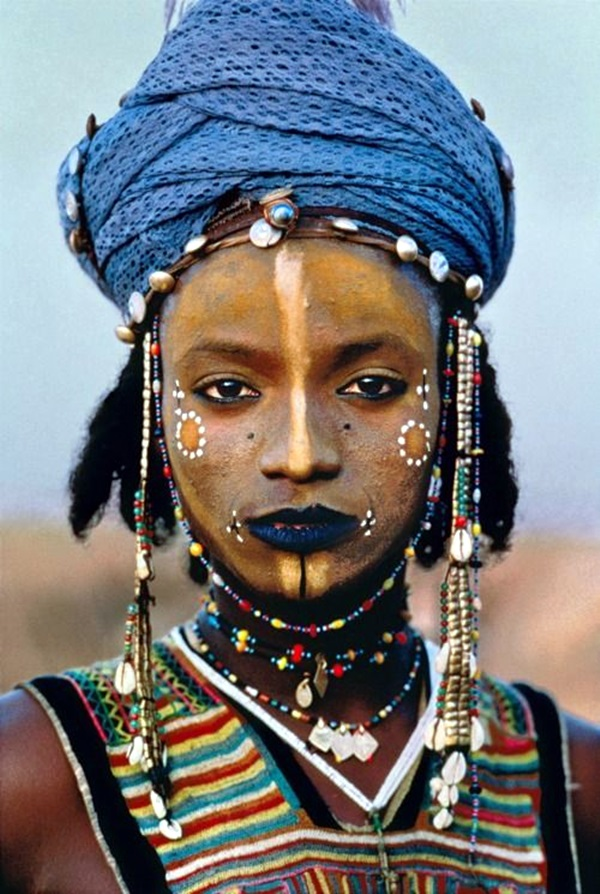 AFRICA-10015, Young Wodaabe Man, Tahoua, Niger, 1986, NIGER-10003