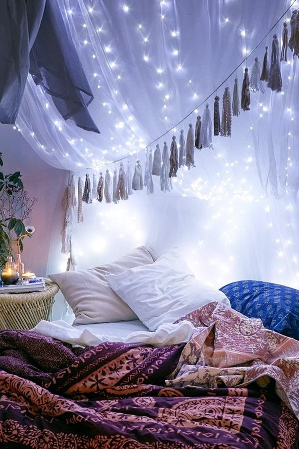 Wedding 1st night bed decoration ideas (1)