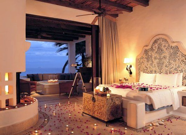Wedding 1st night bed decoration ideas (12)