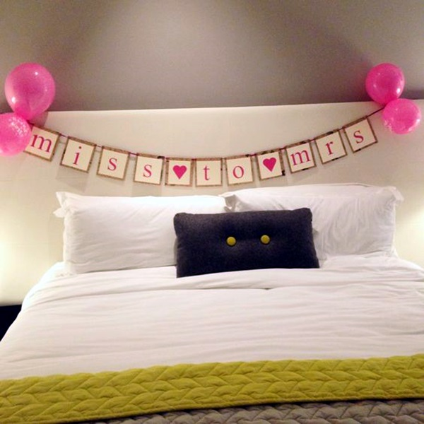 Wedding 1st night bed decoration ideas (16)