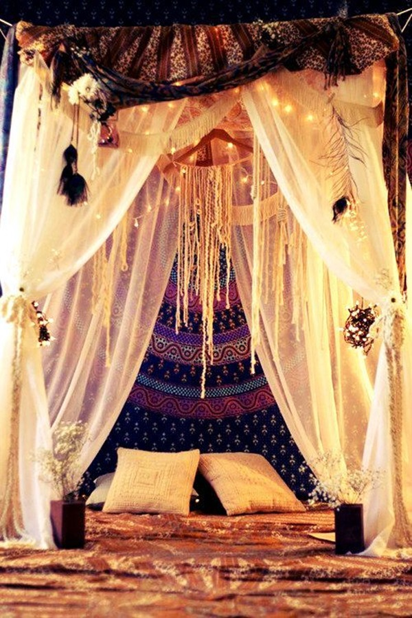Wedding 1st night bed decoration ideas (2)