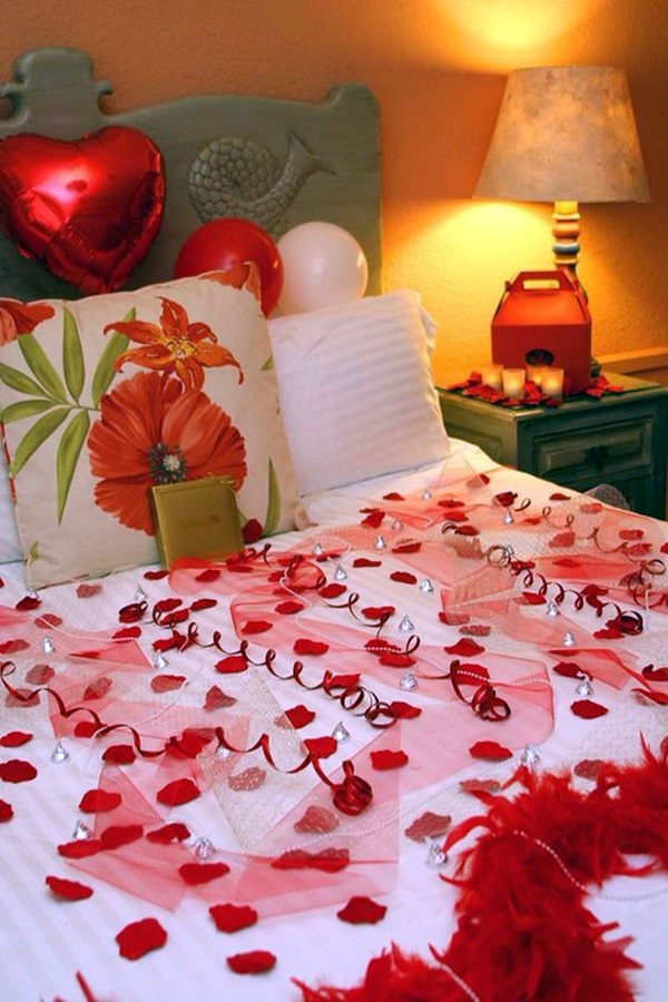 40 wedding first night bed decoration ideas bored art for Marriage bed decoration photos