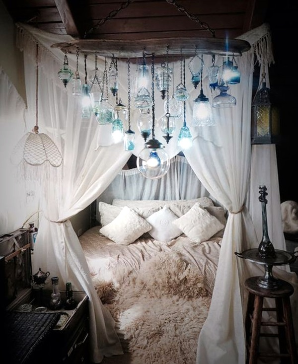 40 wedding first night bed decoration ideas bored art for Bed with mosquito net decoration