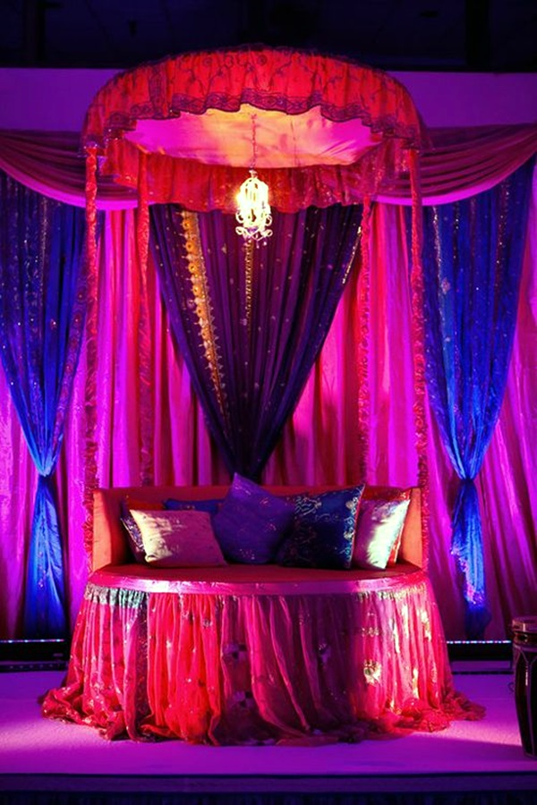 Wedding 1st night bed decoration ideas (39)