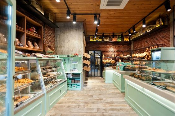 Beautiful bakery interior designs to make you feel peckish for Bakery interior design