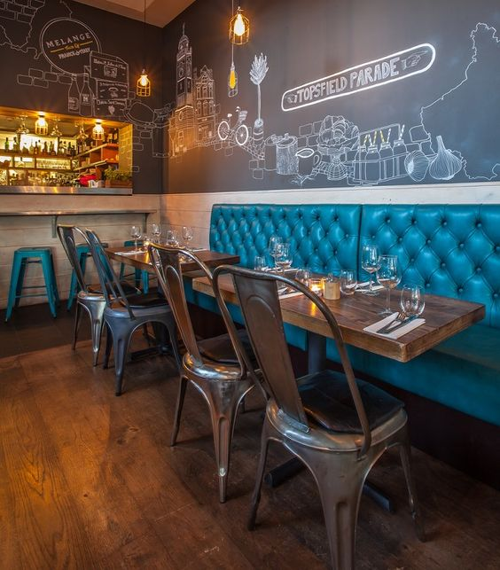 Remarkable and memorable restaurant interior designs for Best color for restaurant interior