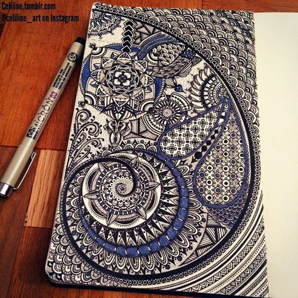 Absolutely Beautiful Zentangle patterns For Many Use (10)