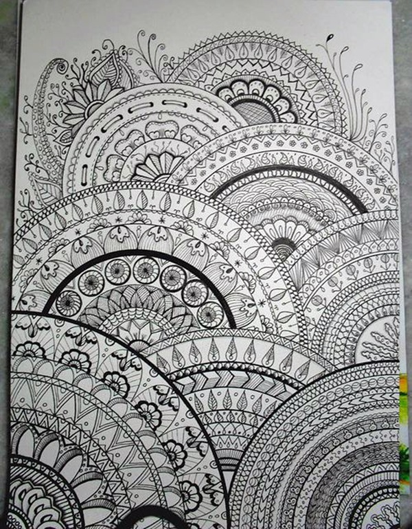 Absolutely Beautiful Zentangle patterns For Many Use (25)