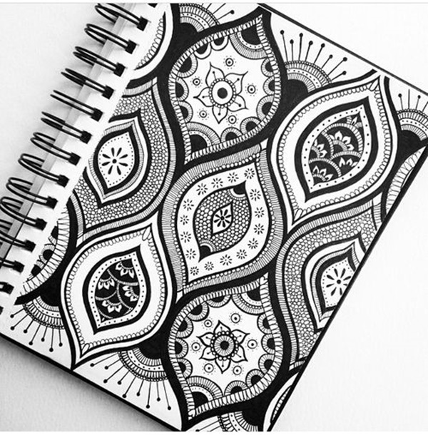 Absolutely Beautiful Zentangle Patterns For Many Use 35