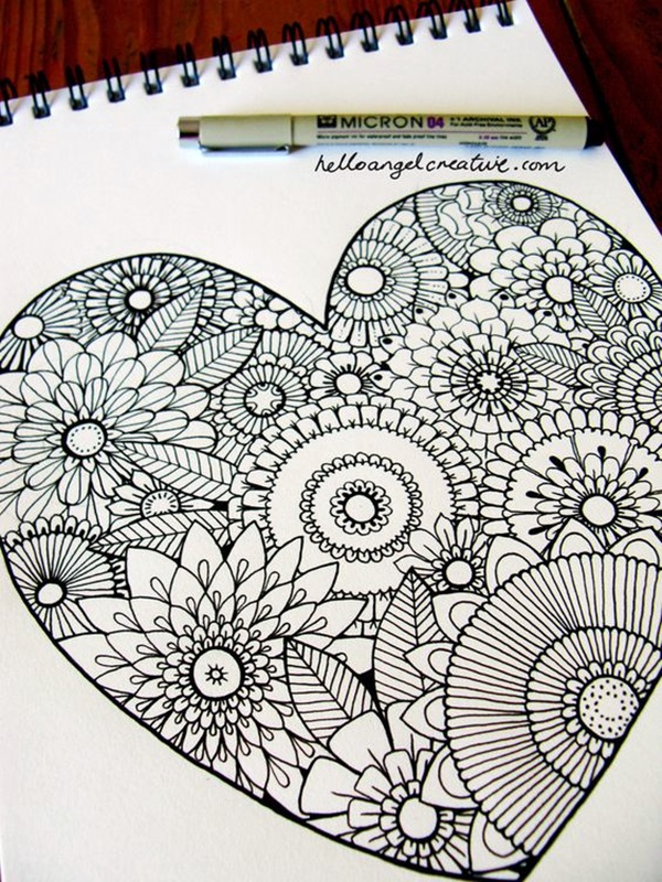 60 Absolutely Beautiful Zentangle Patterns For Many Uses Bored Art Classy Zentangle Patterns