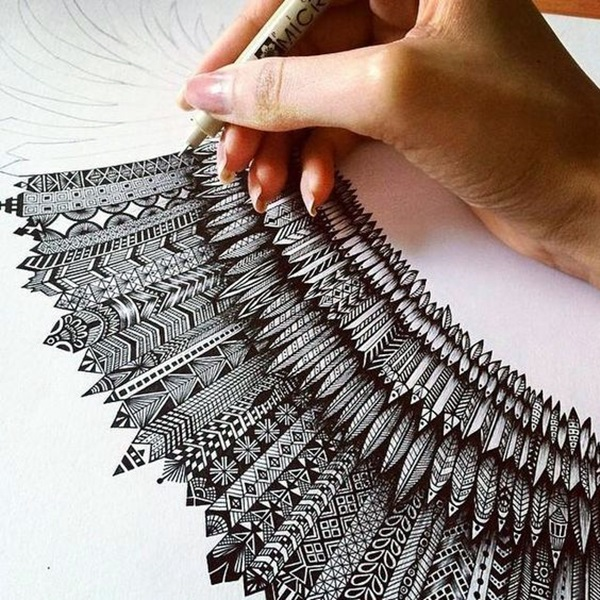 Absolutely Beautiful Zentangle patterns For Many Use (8)
