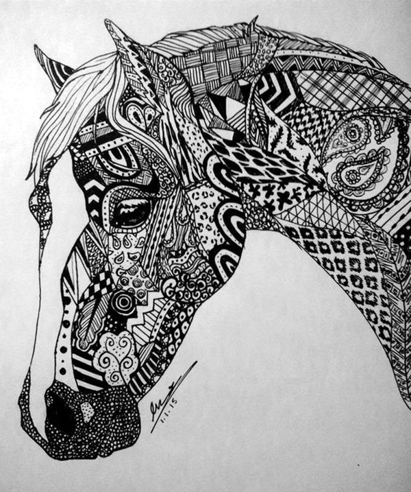 60 Absolutely Beautiful Zentangle Patterns For Many Uses Bored Art Beauteous Zentangle Patterns