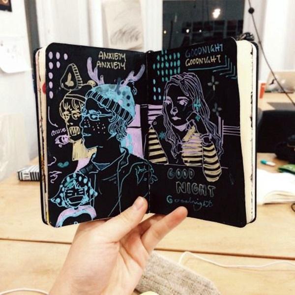 Between the Gaps NoteBook Art Inspirations For Hidden Artists (1)